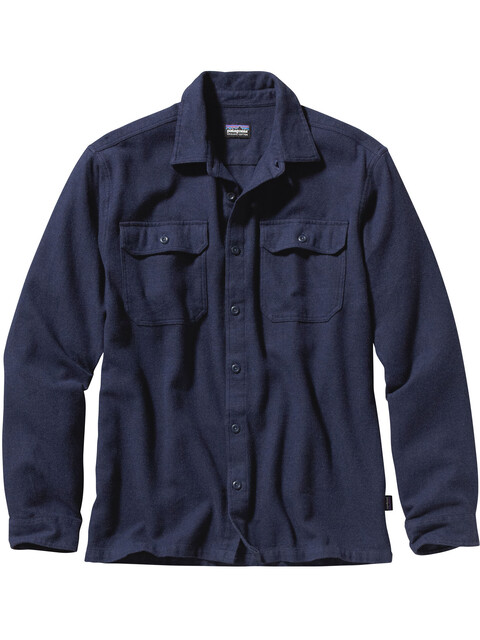 Patagonia Fjord Flannel - T-shirt manches longues Homme - bleu